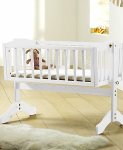 Bethany Swinging Crib - White